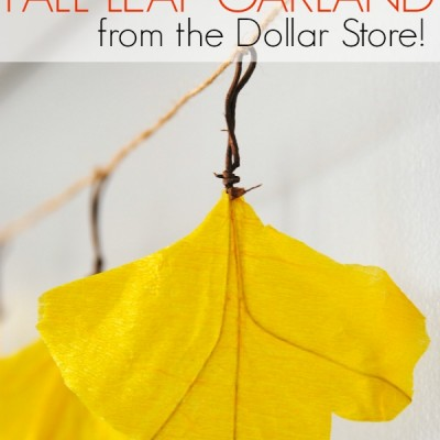 How to Make a Leaf Garland {more DIY Dollar Store Fall Decor!}
