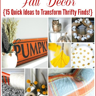 15 Thrifty Fall Decor Ideas {more Dollar Store Decor!}