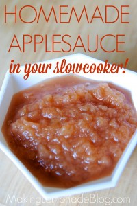Delicious Homemade Applesauce Recipe-- in your slowcooker!