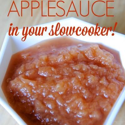 Easy Homemade Applesauce Recipe (in your Slowcooker!)