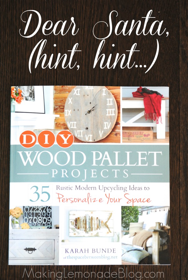 DIY Wood Pallet Projects (Book Review and Giveaway!) | Making Lemonade