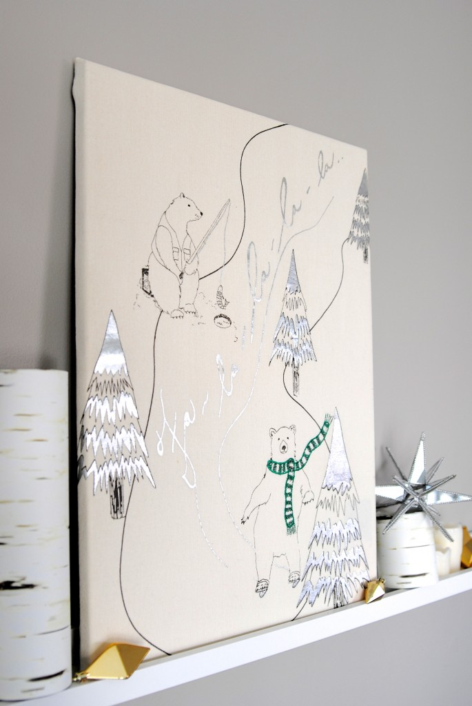 Easy Christmas Art Idea: Tea Towel Wrapped Canvas | Making
