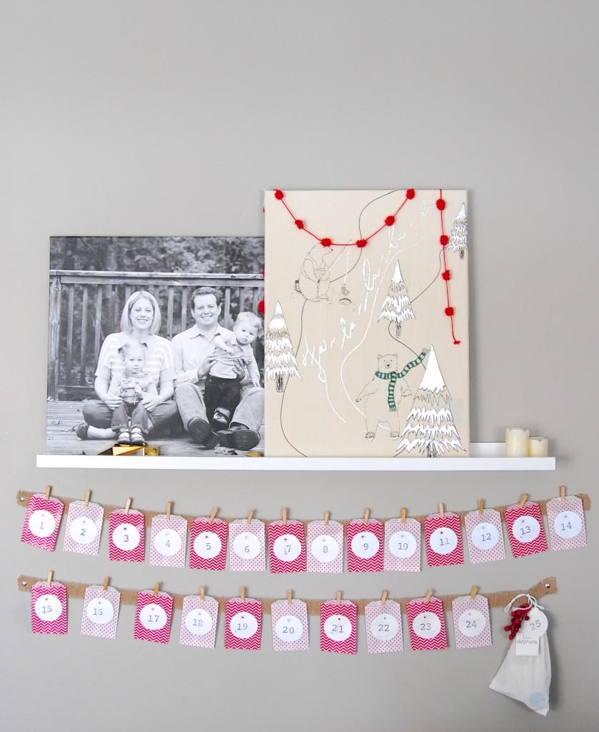 Kids Craft Advent Calendar : Easy christmas advent calendar kids craft idea making