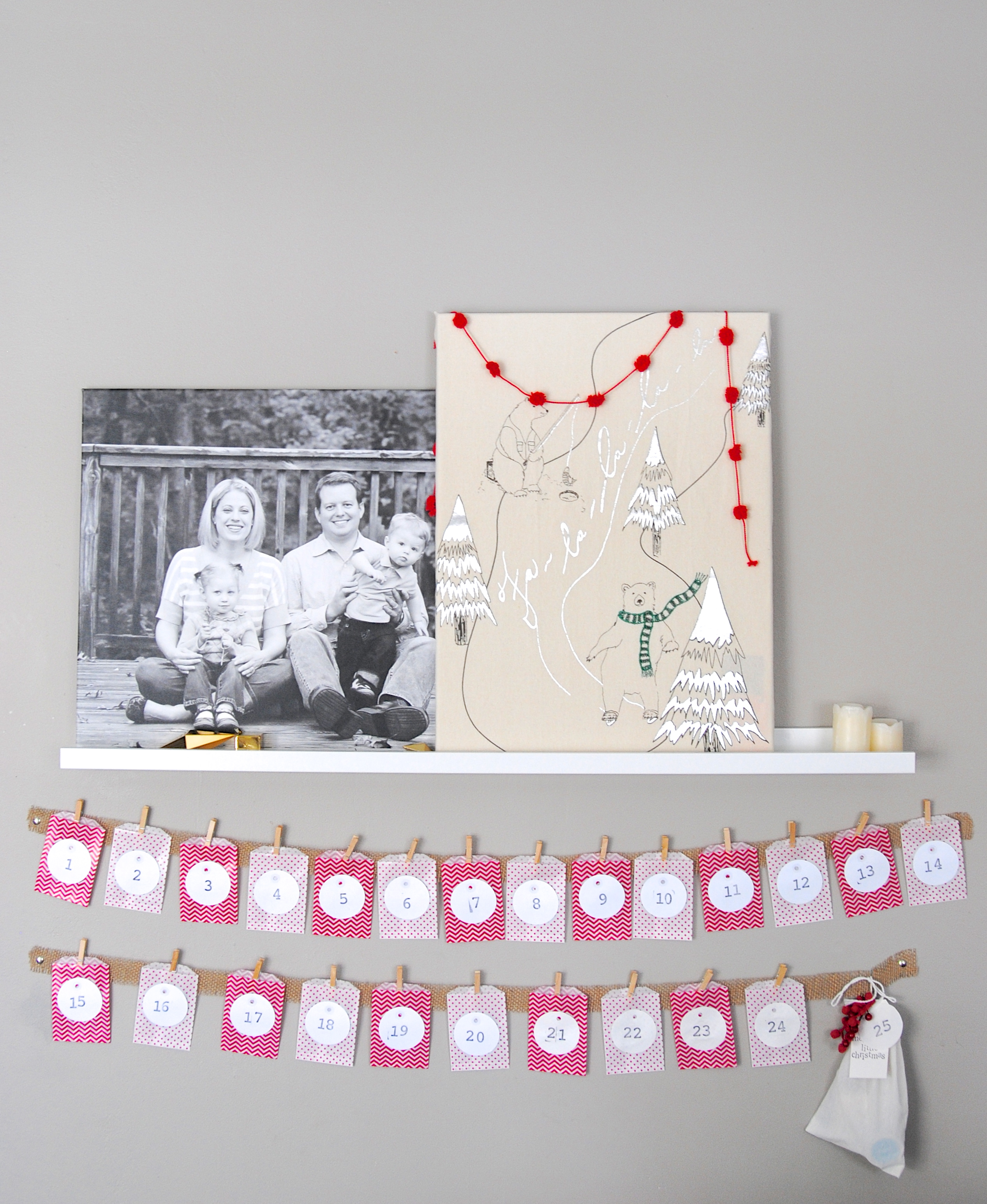 c3b768ec0 Easy Christmas Advent Calendar (great kids craft activity-- it s inexpensive