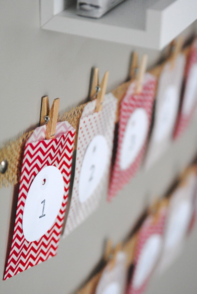 Diy Childrens Advent Calendar : Easy christmas advent calendar kids craft idea making