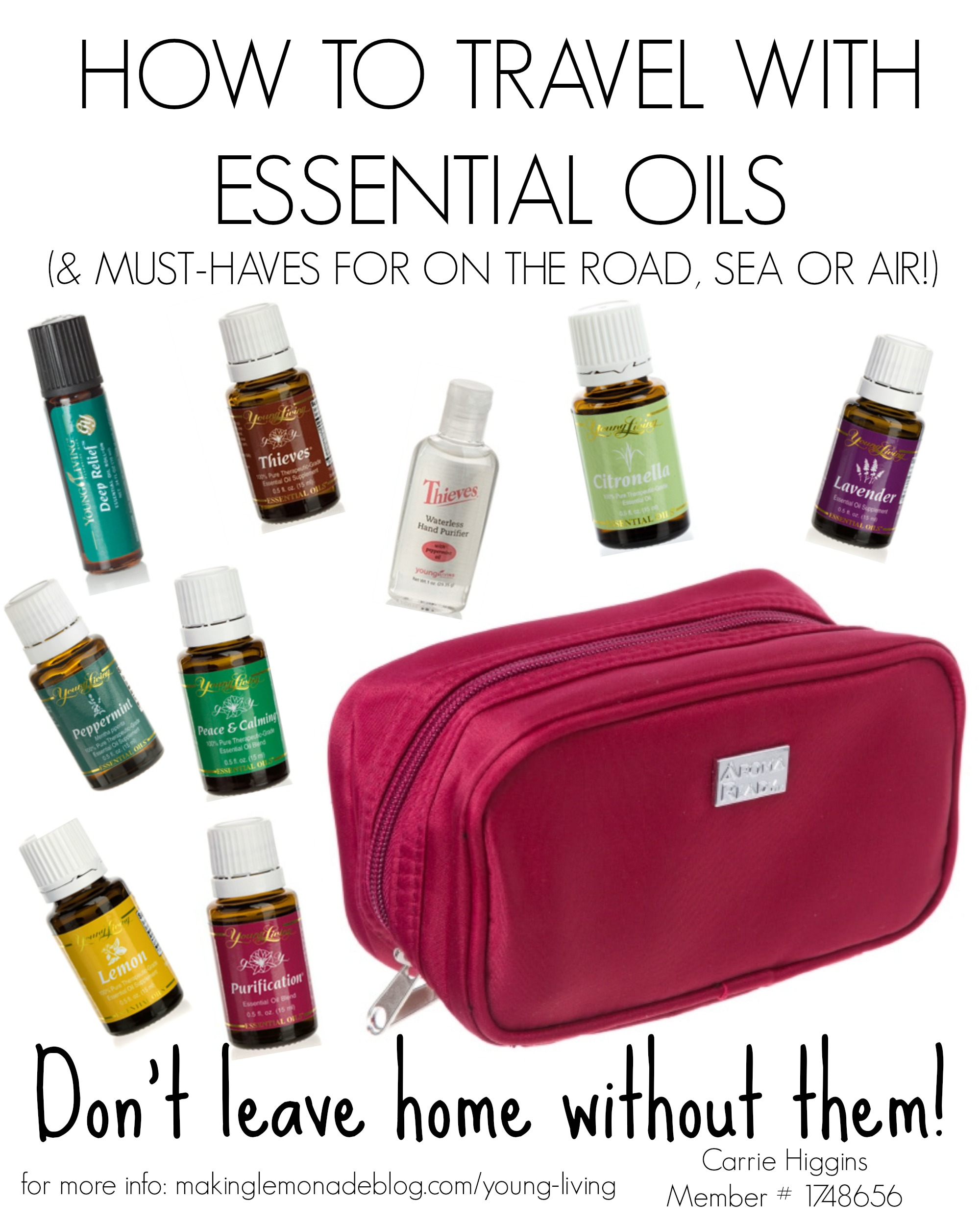 How To Travel With Essential Oils And The Best Oils For Your Next Trip Making Lemonade