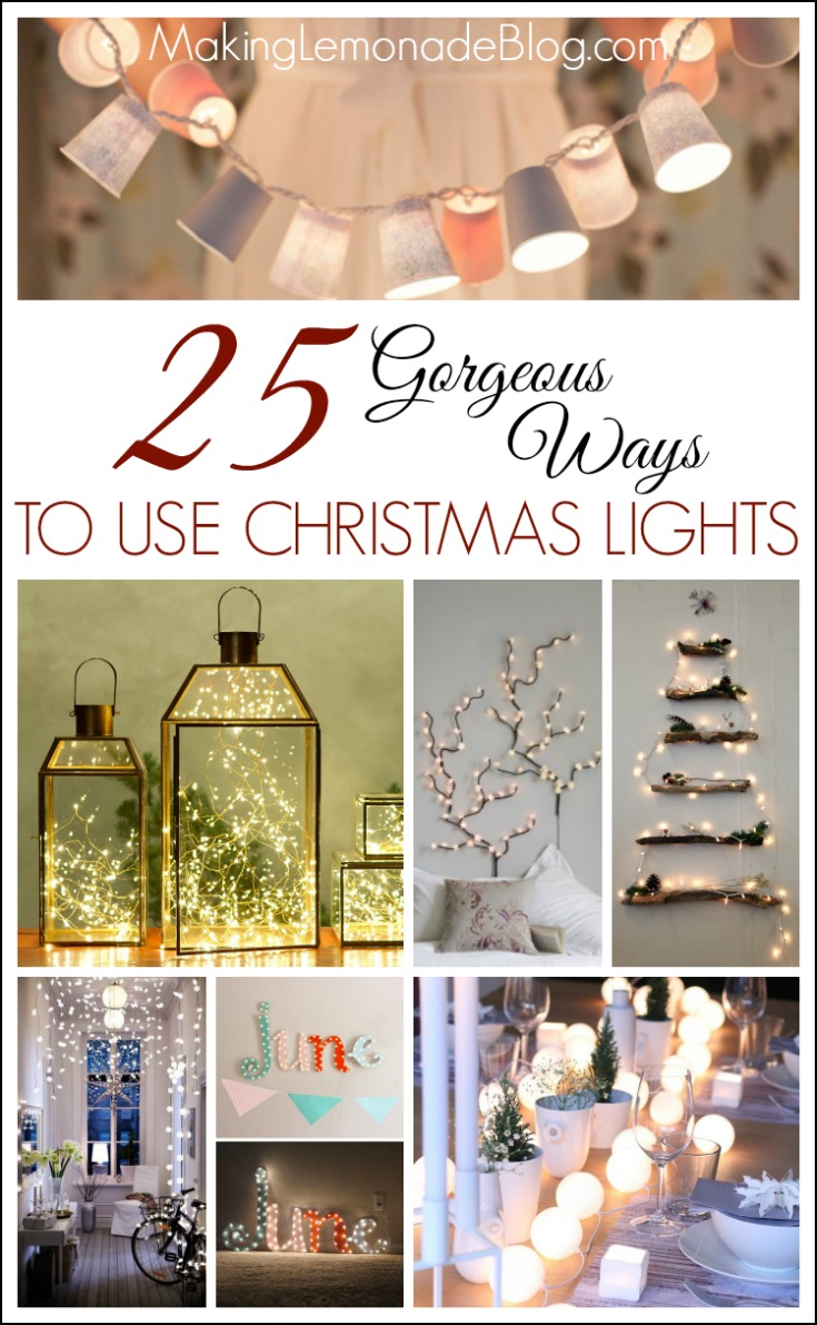 Top Posts of 2014: 25 Gorgeous Ways to Use String Lights-- do not miss this post, it's full of easy ideas for glowing decor all year long!