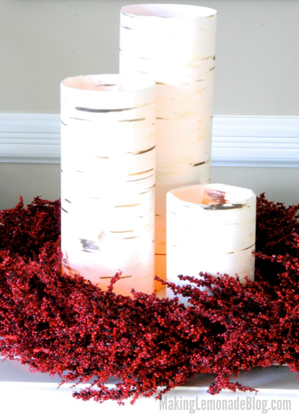 DIY Faux Birch Candleholders {more woodland decor, I can't ...