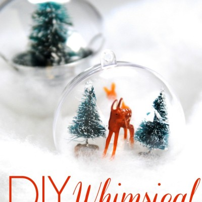 DIY Whimsical Woodland Ornaments {aka, my dream come true}