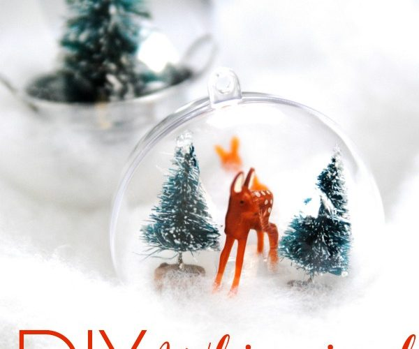 These DIY woodland ornaments are easy to make and add a touch of whimsy to your Christmas tree! Check out this easy tutorial and prepare to fall in love with all those adorable little woodland scenes!