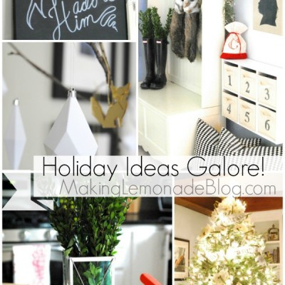 Christmas Home Tour {Holiday Decorating Ideas, Lemonade Style}