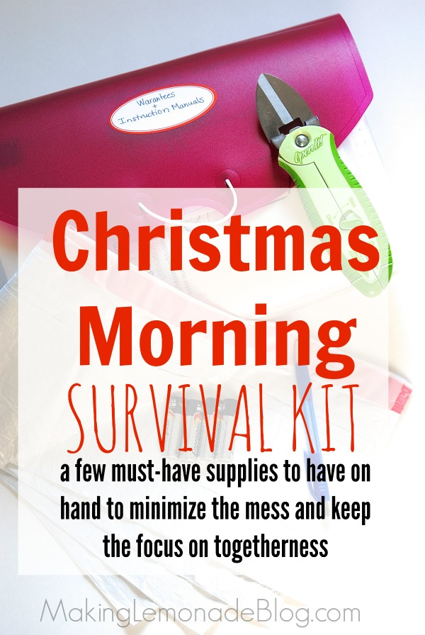 Tips for minimizing the mess on Christmas morning and keeping the focus on the real meaning of the season