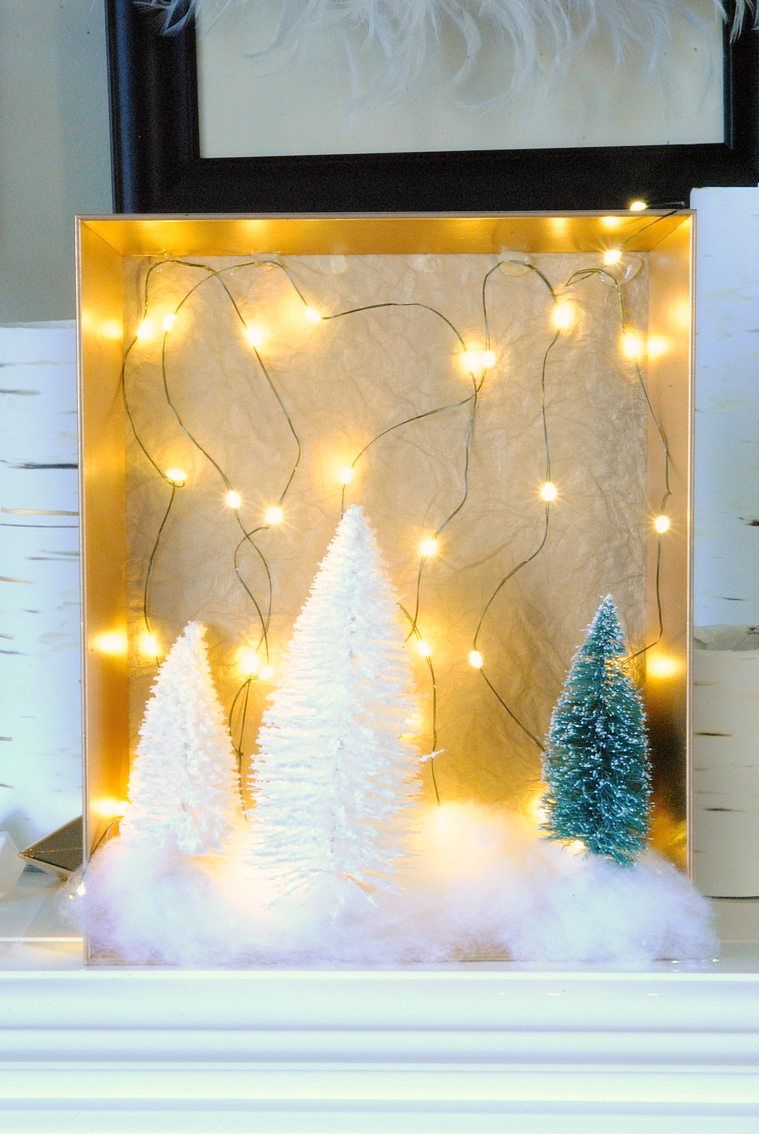 best service f15b8 d56ef DIY Christmas Woodland Fairy Light Shadow Boxes | Making ...
