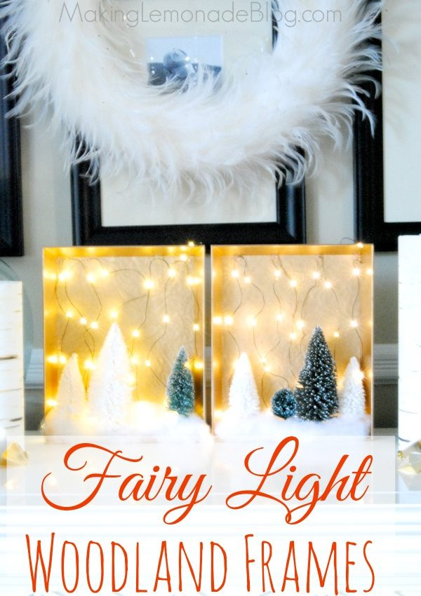 DIY Christmas Woodland Fairy Light Shadow Boxes