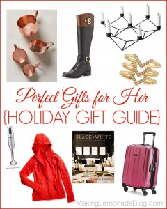 Great Gift Ideas for HER {Holiday Gift Guide}