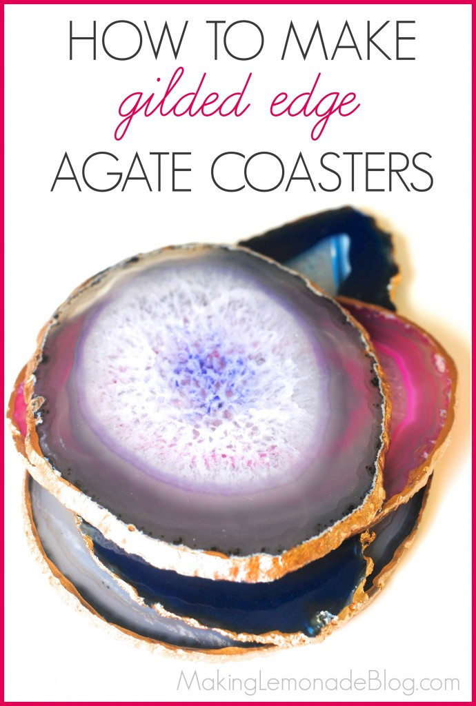 Best Posts of 2014: Gorgeous DIY Gilded Edge Agate Coasters