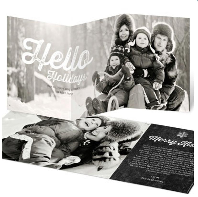 Gorgeous Modern Christmas Cards (ideas for the last minute Christmas card sender)