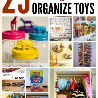 25 Brilliant Ways to Organize Toys
