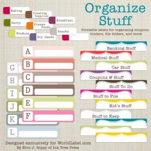 23 Free Printables to Organize Everything