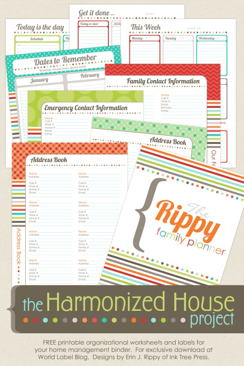 graphic about Free Printables for Home identify 23 Totally free Printables in the direction of Set up Every little thing Producing Lemonade