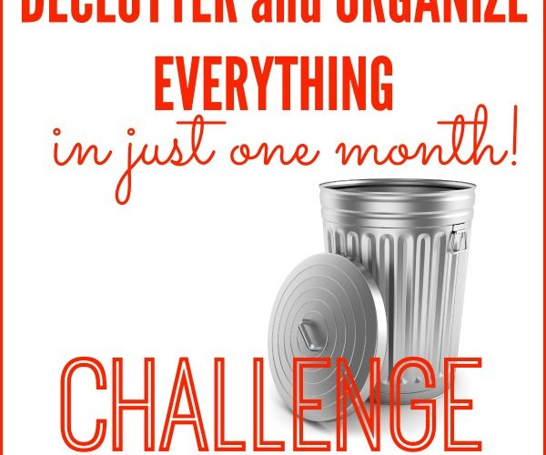 Declutter and Organize EVERYTHING Challenge! Tips, Tools, & Motivation to organize your entire home in 31 days