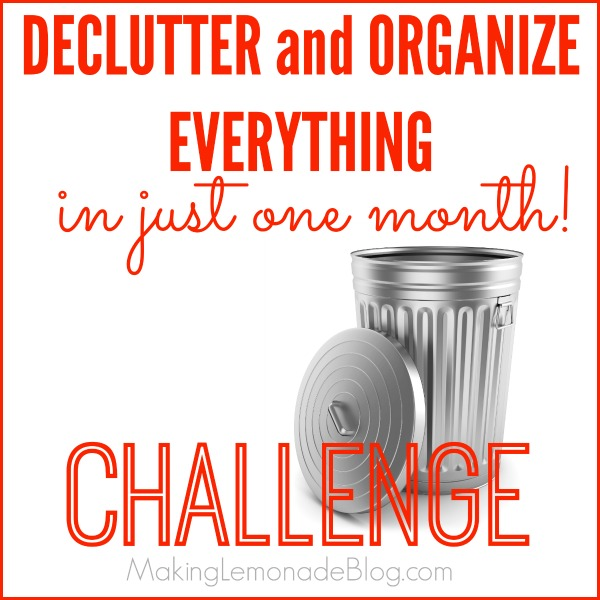 Declutter and organize everything in a month