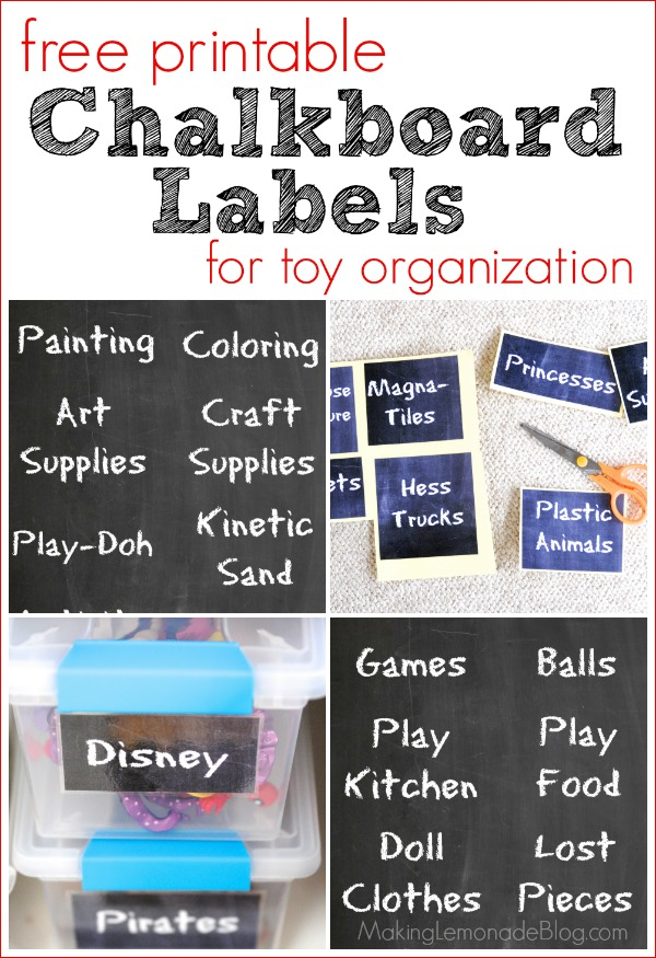 Free Printable Chalkboard Labels For Toy Organization