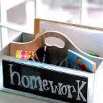 "This simple organizing tip turns ""I HATE HOMEWORK!"" into a peaceful, hassle free routine. Here's how to set up an organized mobile homework station that fits everyone's needs and makes homework time a breeze."
