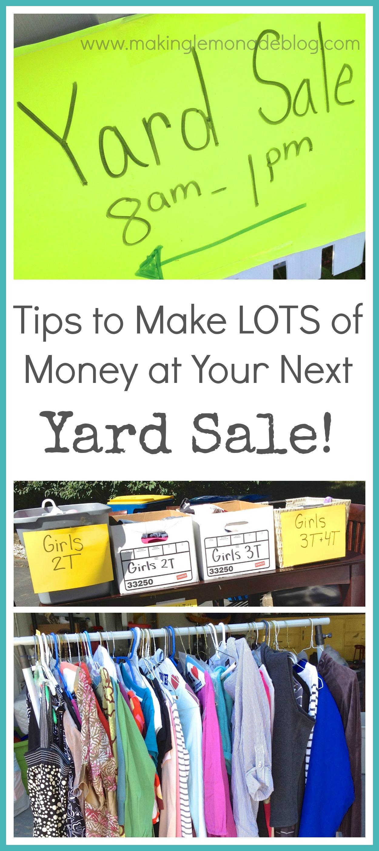 home organizing garage sale checklist