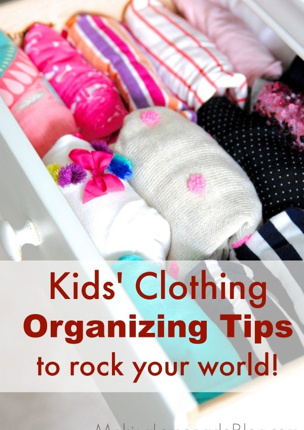 Timesaving Tricks for Organizing Kids' Clothes