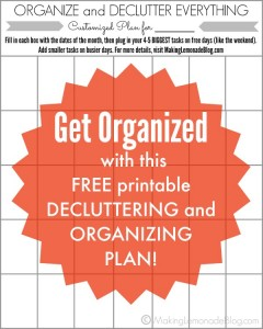 Get organized this year with a FREE PRINTABLE Decluttering and Organization Plan!