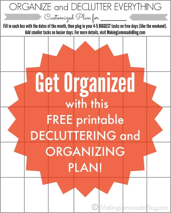 Personalized Organization and Decluttering Plan {Free Printable!}
