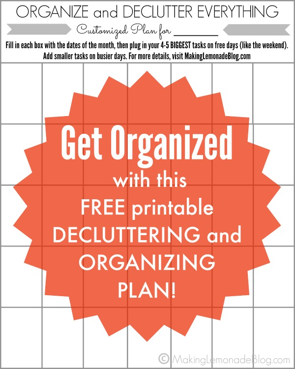 Free printable- Organize and Declutter Everything