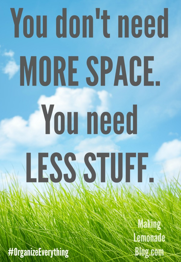 Tired of organizing your clutter? Here's the ONE TIP that will stop clutter in it's tracks, allow you to breathe, and simplify your life-- clutter free!