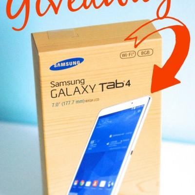 Samsung Galaxy Tab4 Giveaway! {Organize Everything}