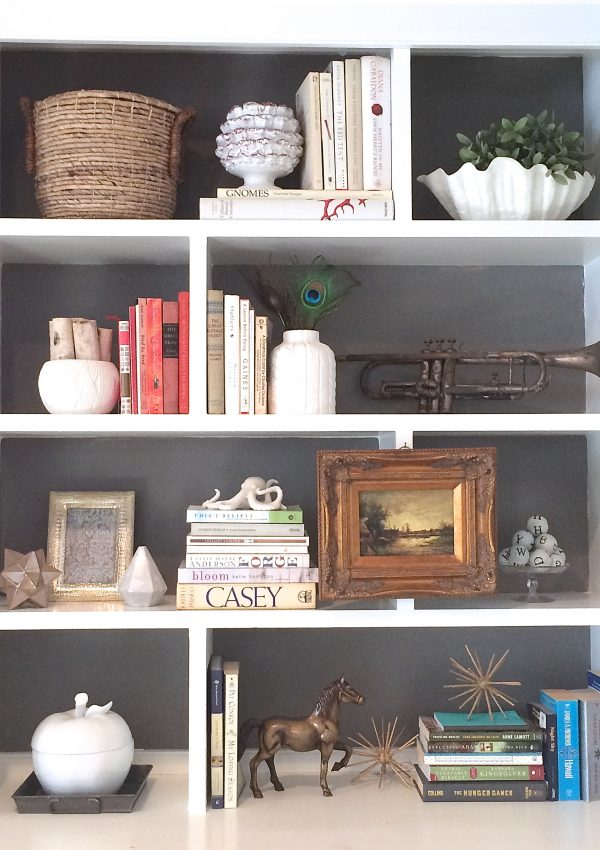 Freshen up your bookcases with this quick tip! {how to paint inside built-in bookcases}