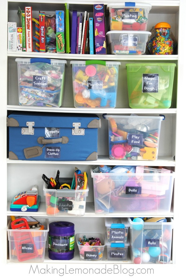 How to Organize and Tame Toys! Practical steps and clever ideas for toy organization to declutter and simplify your life!