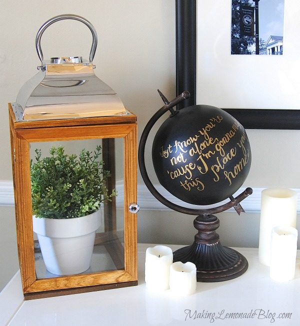 DIY Chalkboard Globe & Musings on Change {Anthropologie Knockoff}