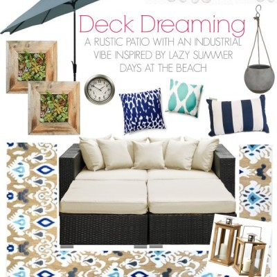 Deck Dreaming & Spring Cleaning {Outdoor Living Ideas!}