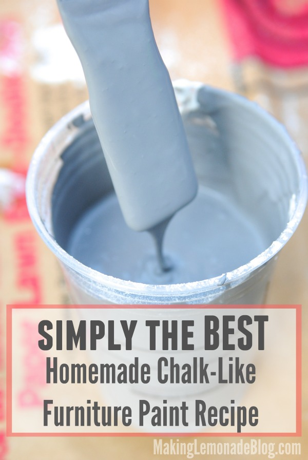 Chalk Paint Recipe For Furniture