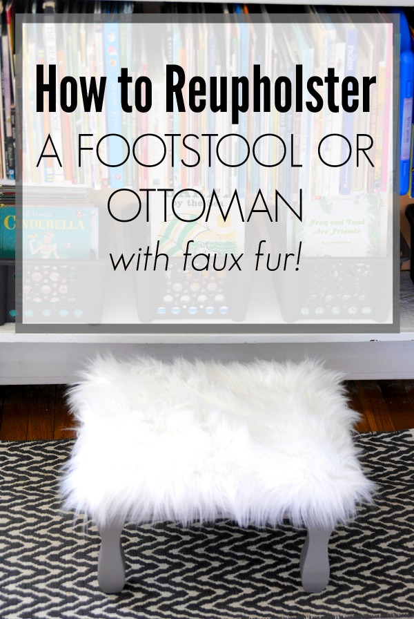 How to reupolster a footstool or ottoman