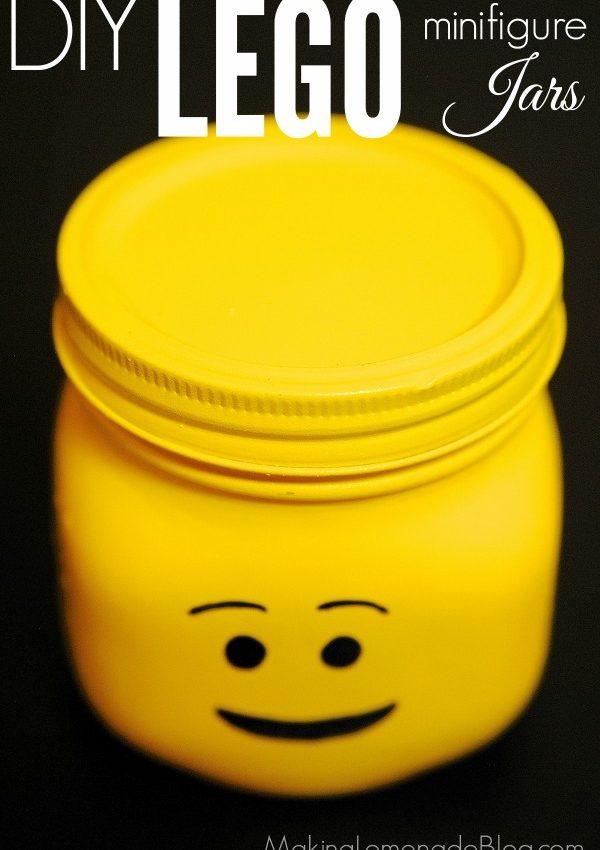 DIY LEGO Minifigure Jars