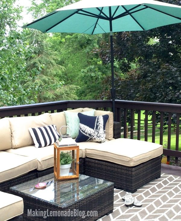 Deck Stain 101 & The Perfect Outdoor Couch (Deck Diaries, Part 1)
