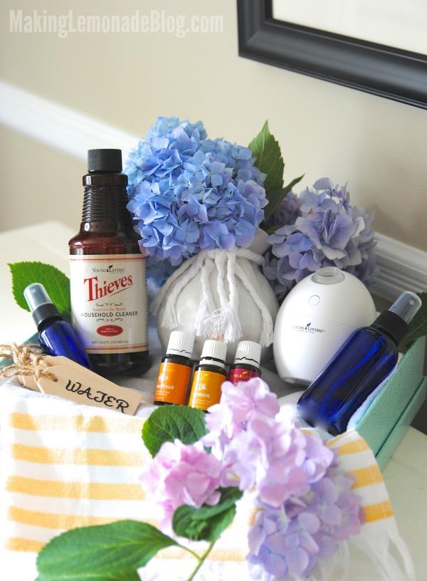 Essential Oils Housewarming Gift Basket Ideas Making