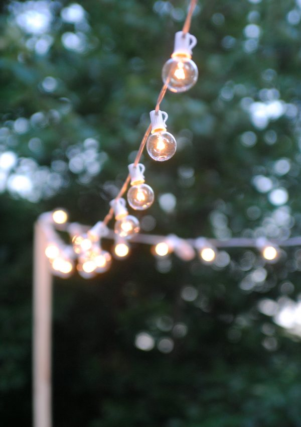 How to Hang Outdoor String Lights (The Deck Diaries, Part 3)