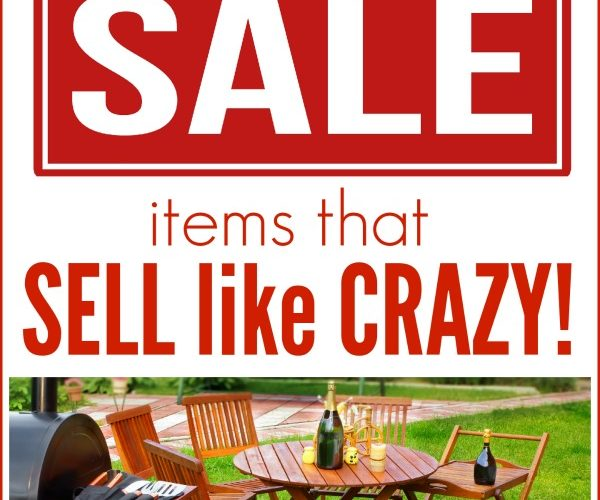 These 7 popular yard sale items are selling like crazy! Do you have any in your home? Check out what they are so you can mention them in your ads as well as put them in prime locations at your sale!
