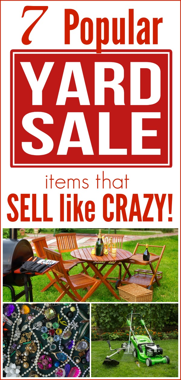 7 popular yard sale items that sell like crazy making for Sale things from home