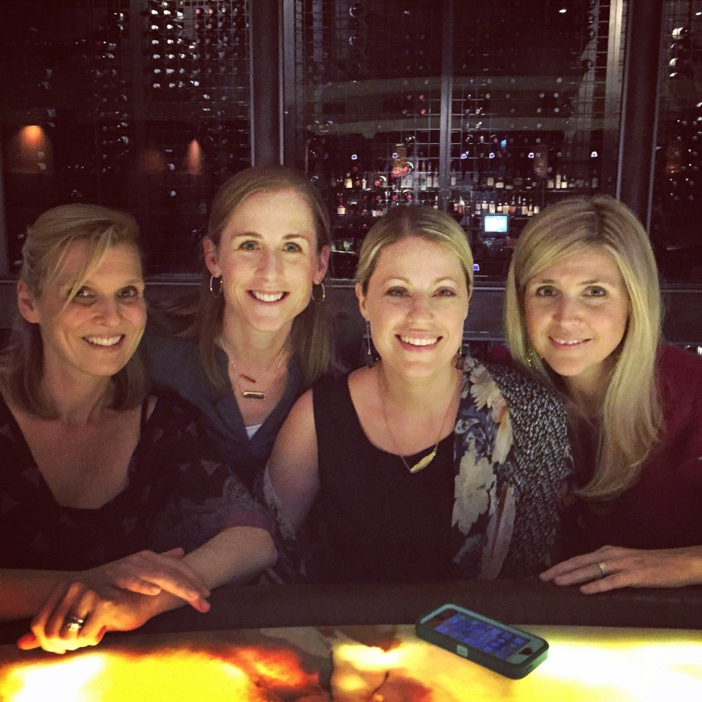 Four blonde friends in a bar in Charleston, SC