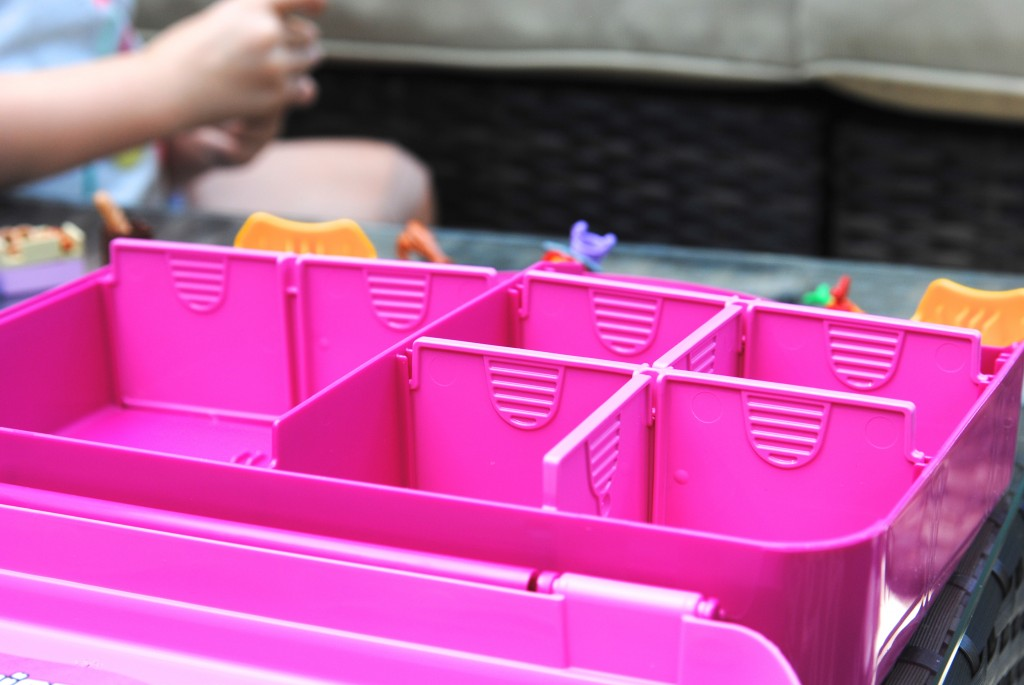 Love this solution for on-the-go play! These LEGO toys will go everywhere your kids do: the pool, roadtrips, vacations, restaurants, picnics-- plus they store easily in a carrying case. BRILLIANT.