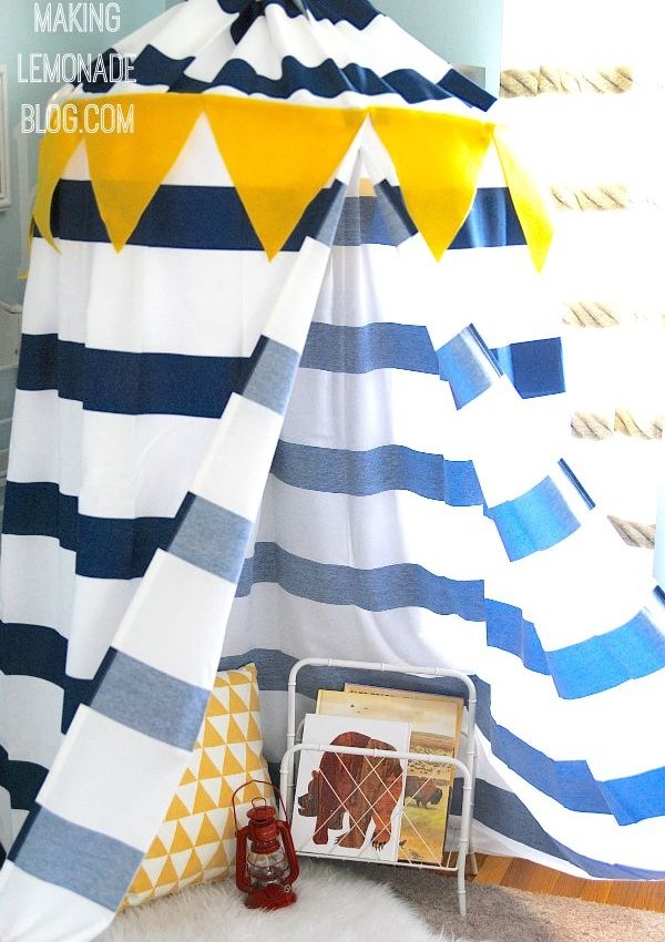 Make a DIY No-Sew Kids' Play Canopy Tent… in an hour!